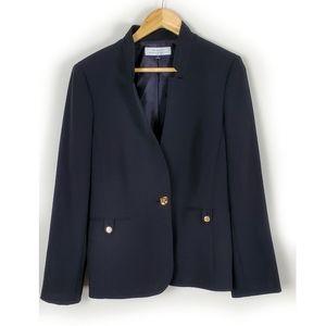 Tahari Black Buttonup Blazer Size 12